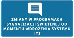 Zmiany w programach sygnalizacji świetlnych od momentu wdrożenia systemu ITS