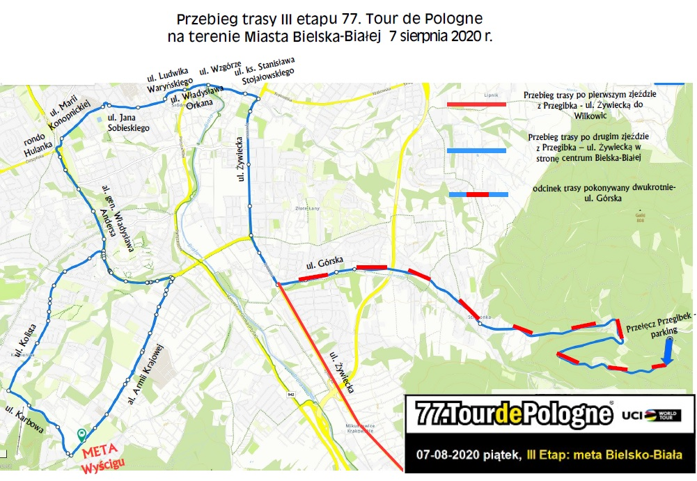 Przebieg trasy III etapu 77. Tour de Pologne