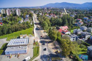 Rozbudowa DW 942 (ul. Cieszyńskiej) w Bielsku-Białej (14)