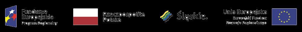 Obrazek przedstawia 4 logotypy: Logo Fundusze Europejskie Programy Regionalne, Logo Rzeczpospolita Polska, Logo Śląskie, Logo Unia Eurpejska Europerjski Fundusz Rozwoju Regionalnego